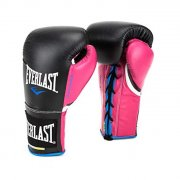 Boxing Gloves Everlast PowerLock Pro Fight - black/pink