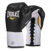 Everlast MX training boxing gloves with laces - black